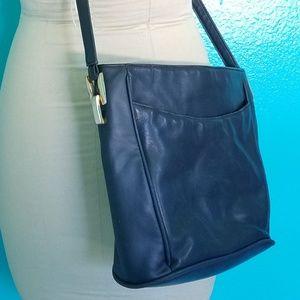 Vintage Leather Handbag Crossbody Purse Bag